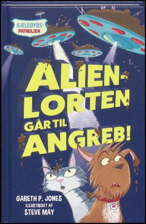 Forside til bogen Alienlorten går til angreb!