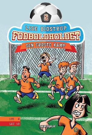 Forside til bogen Fodboldholdet - den første kamp